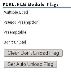 NoRM Module Load Flags for PERL.NLM