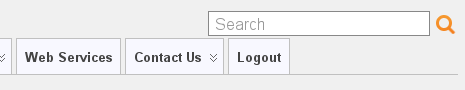 Logout option, as seen from the private side of the site